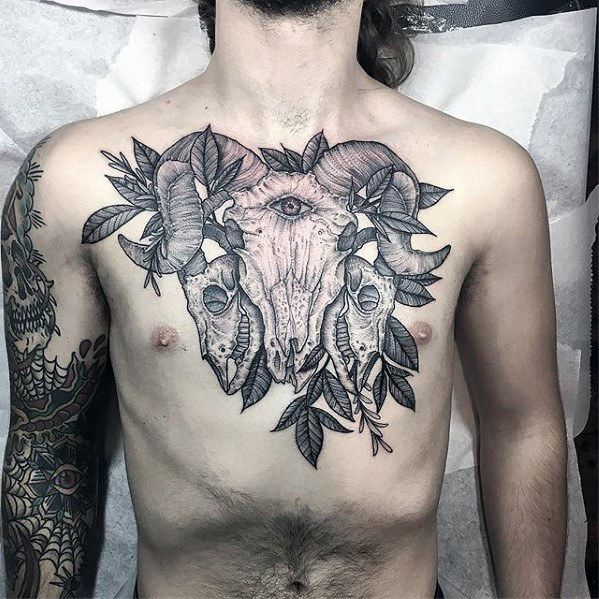 50 Goat Skull Tattoo Designs For Men Manly Ink Ideas Tattoos