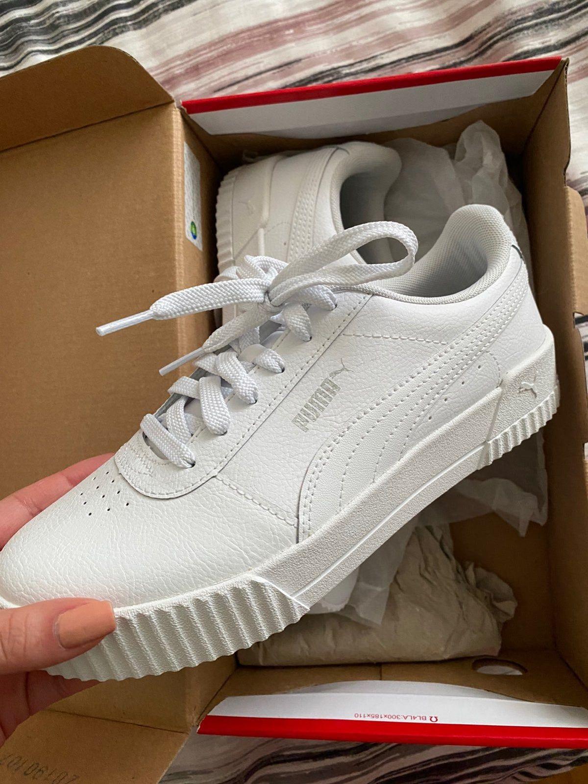 puma carina l white shoes in 2020 | Basic shoes wardrobe ...