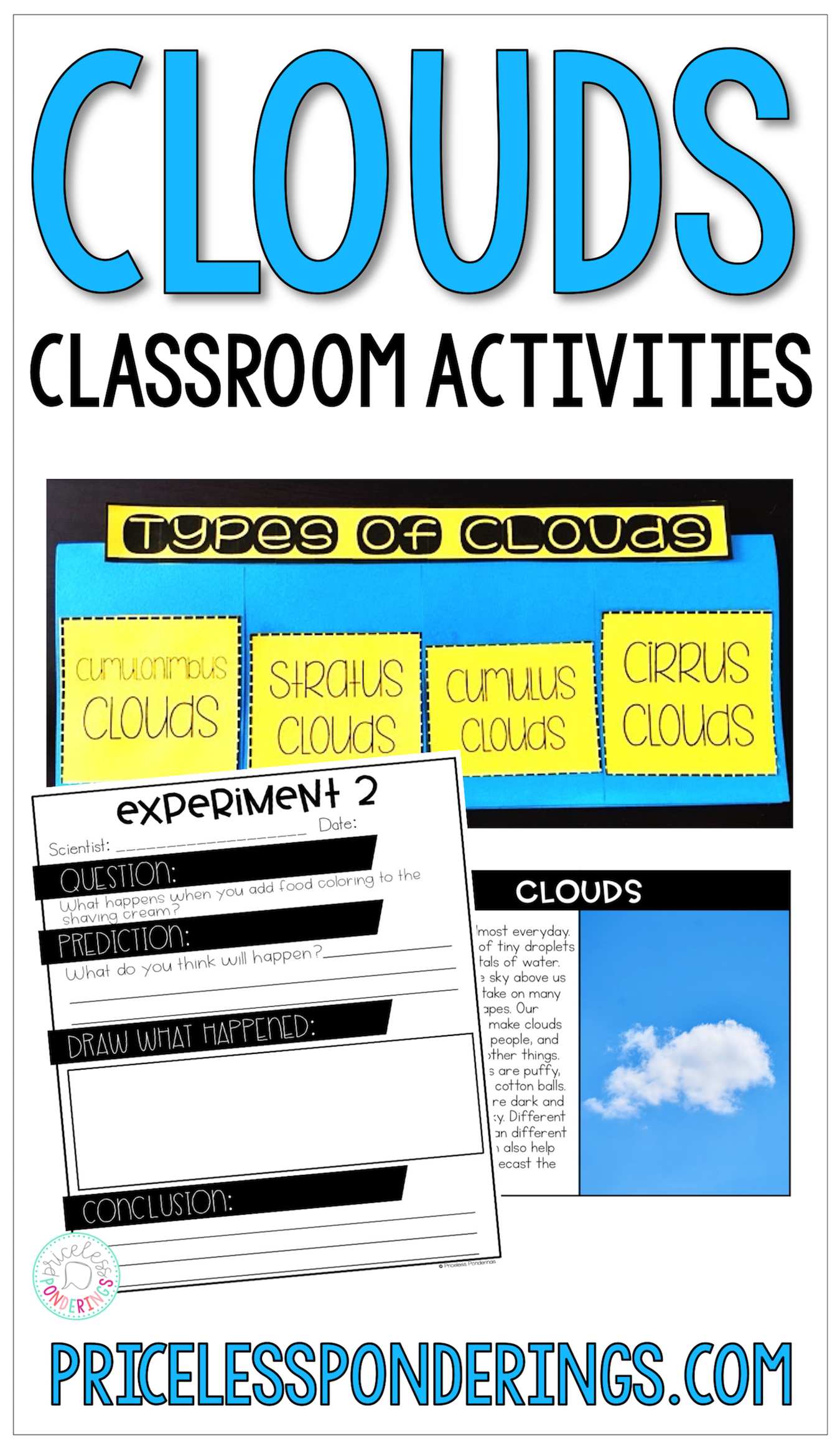Types Of Clouds Activities And Worksheets