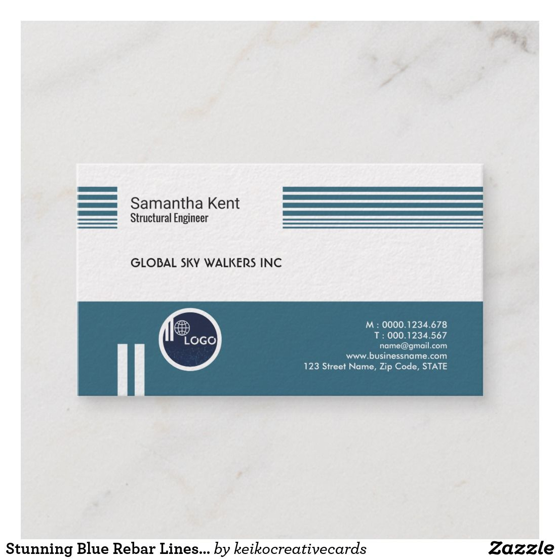 Dazzling Blue Rebar Lines Engineer Business Card Zazzle Com Card Design Cards Business Cards,Principles Of Design Pattern Images