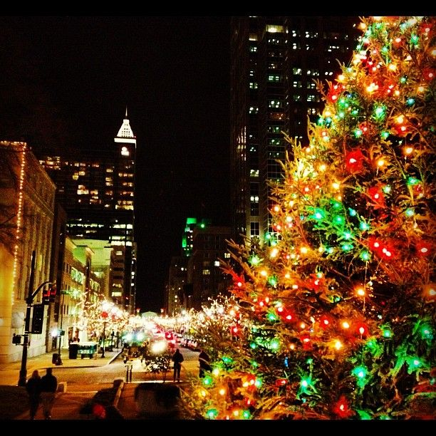 Christmas Tree Inn Tn: View From The State Capitol In Downtown Raleigh, NC During