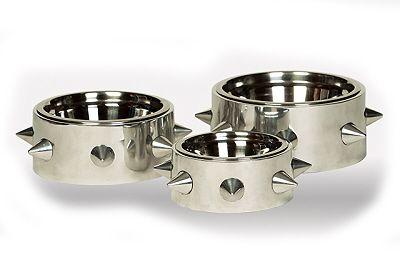 Bruno Polished Nickel Dog Bowl Dog Bowls Dog Food Bowls Dog Milk