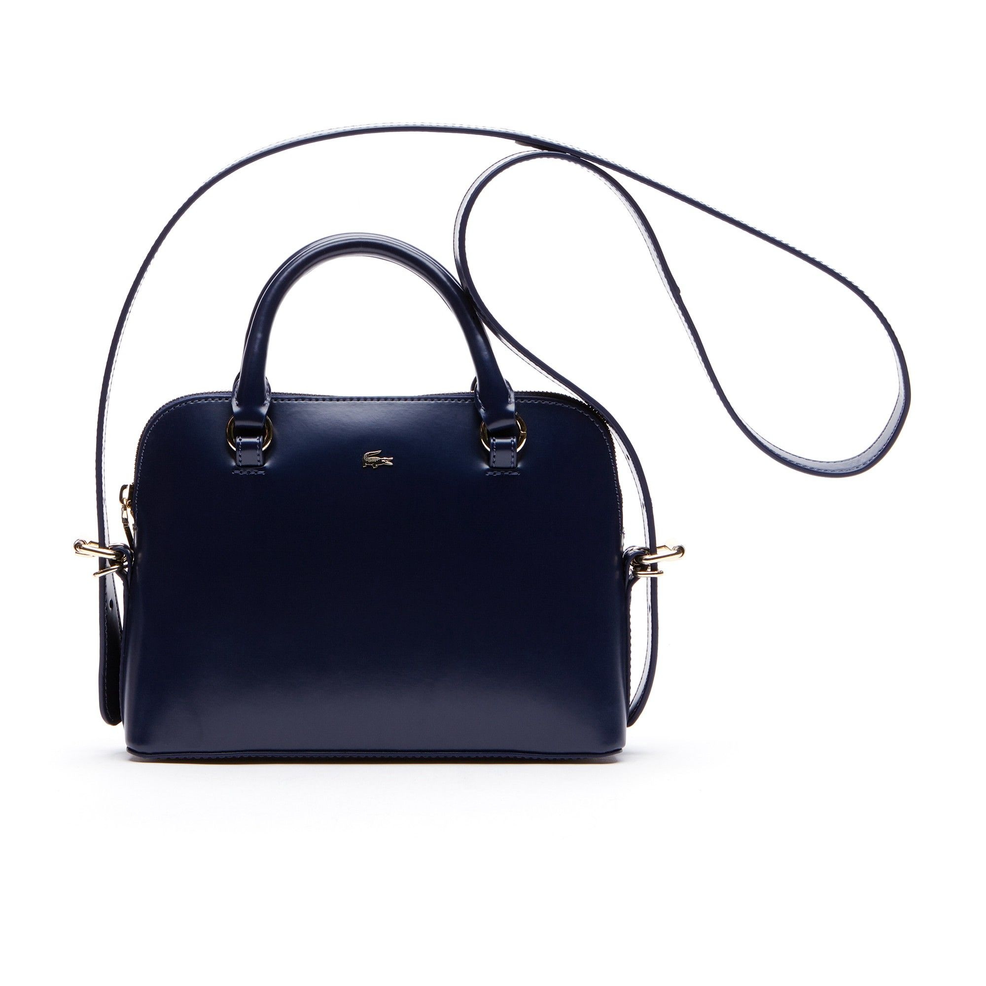a3b2376745 LACOSTE Women's Mini Golf Glazed Leather Bugatti Bag - BLUE DEPTHSBLUE  DEPTHS. #lacoste #bags #shoulder bags #leather #