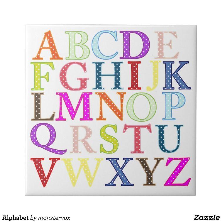 Alphabet Ceramic Tiles Alphabet Kids Tile My Zazzle Products At