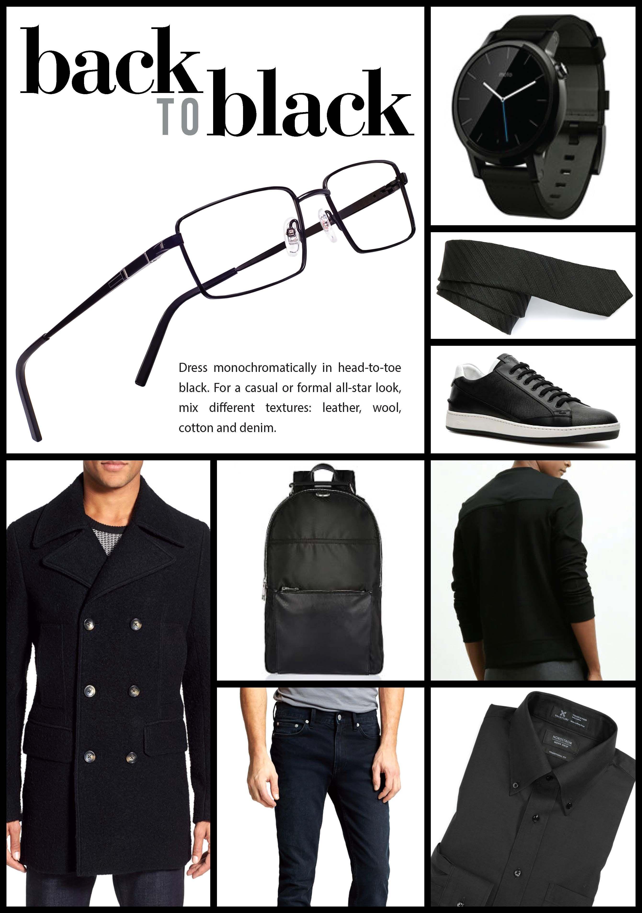 454722a21fe Back to Black. Dress monochromatically in head-to-toe black. Featuring XXL  Eyewear Bomber  eyewear  fashion