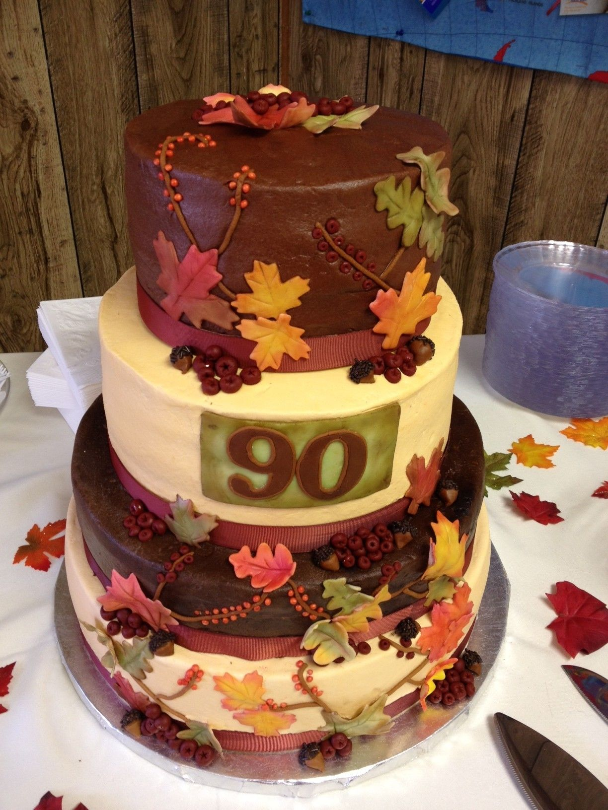 Fall Themed Birthday Cakes Fall Themed 90th Birthday Party Ideas