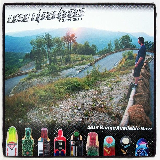 Check the Lush Ad on the back of the first issue of @thrillmagazine @ukdownhill  #peteconnolly #lushlongboards #knk - @vandem_mfg- #webstagram