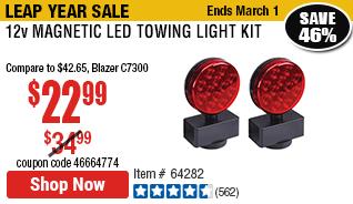 12v Magnetic Led Towing Light Kit Towing Lights Towing Kit