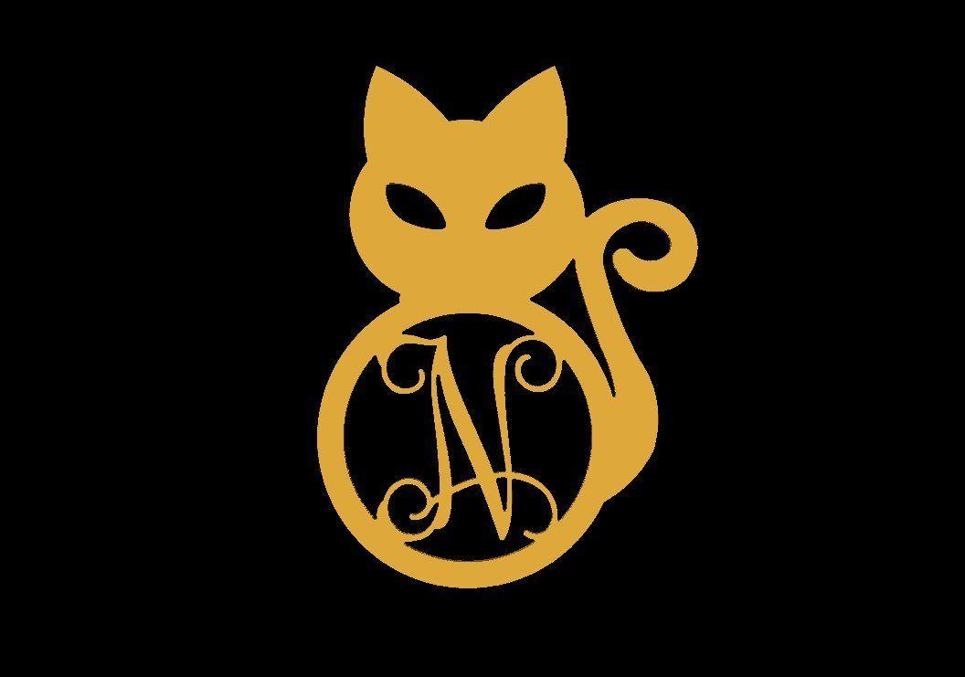 Halloween Black Cat Door Hanger, Black Cat Monogram Halloween