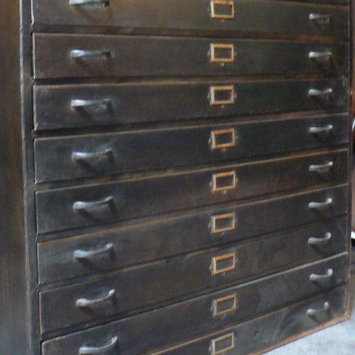 Meuble en métal 12 tiroirs Fabrique Hanjel