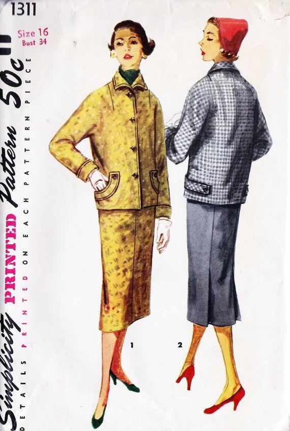 1950s Misses Two Piece Suit