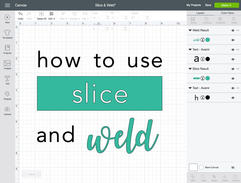 Learn How To Slice And Weld In Cricut Design Space The Cricut