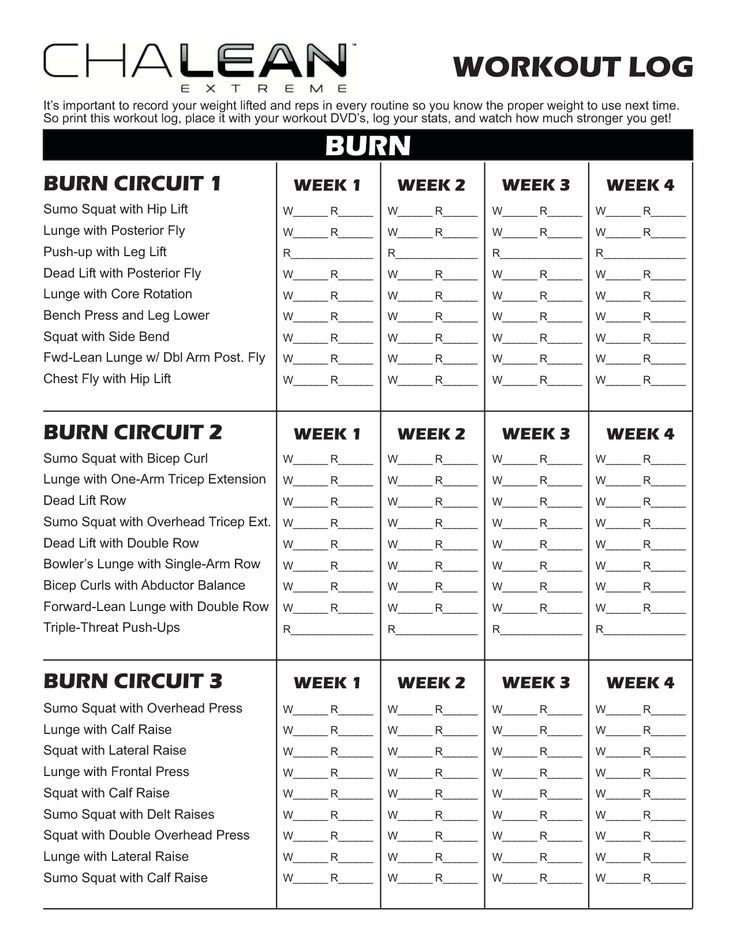 Chalean Extreme Workout Sheets - Google Search | Workout