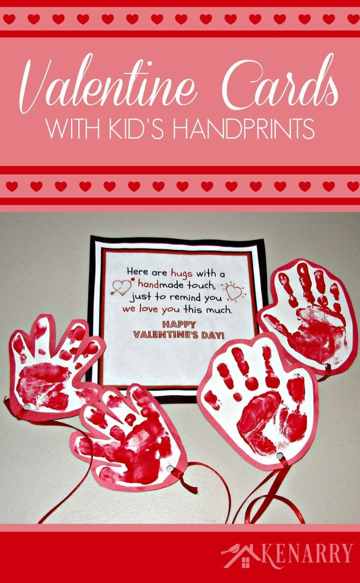 kids valentine card idea sending a long distance hug