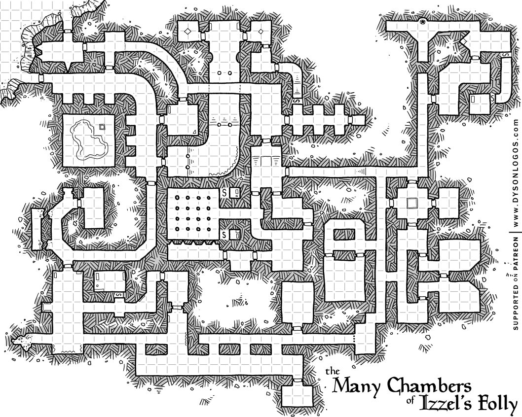 The Many Chambers of Izzet's Folly | D&D Dungeon Maps in