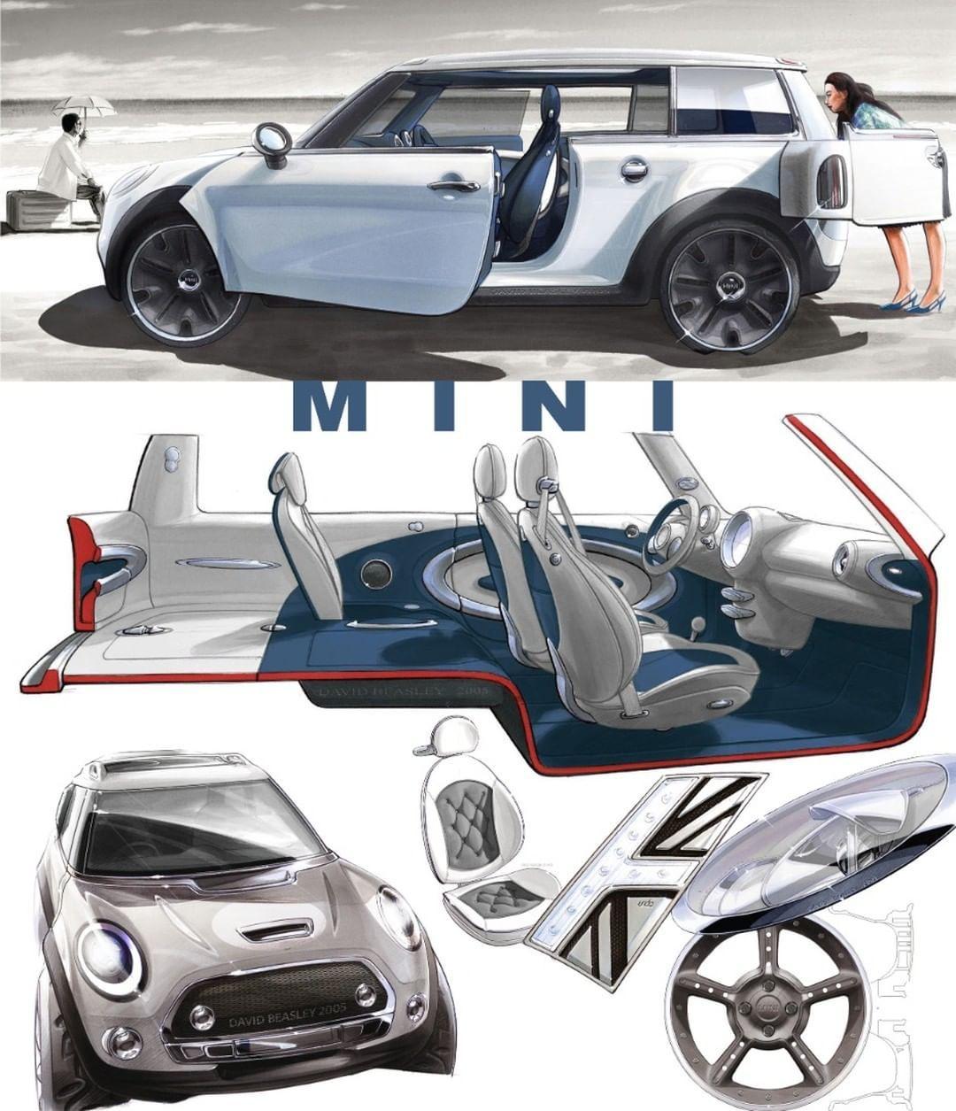 "David Malcolm Beasley on Instagram: ""Back in the day.... Mini Clubman Concept, 2005/6. #minidesign #mini #clubman #miniclubman #miniconcept #formtrends #cardesignnews…"""