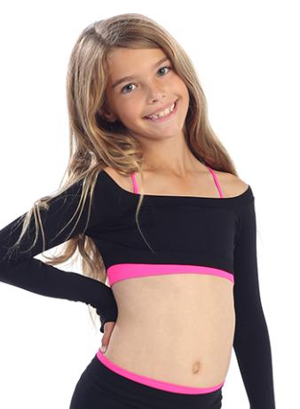 521116a60b2 Stardust Sportique Store - Kids Long Sleeve Crop Top, $23.00 (http://