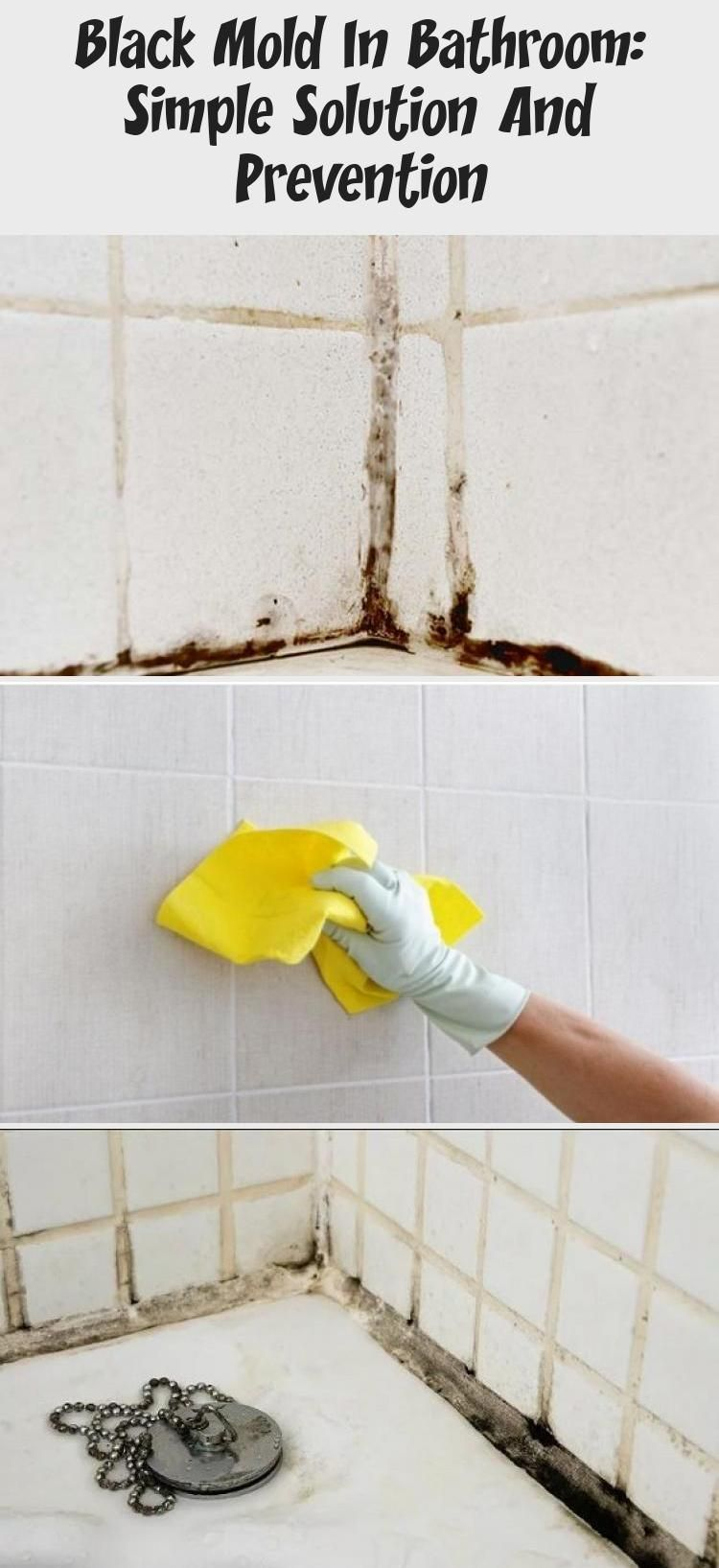 Black Mold In Bathroom Simple Solution And Prevention In 2020 Mold In Bathroom Bathtubs For Small Bathrooms Simple Solutions