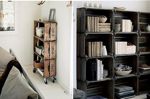 Propuestas anticrisis trasnforma cajas de madera en for Muebles con cajas de madera