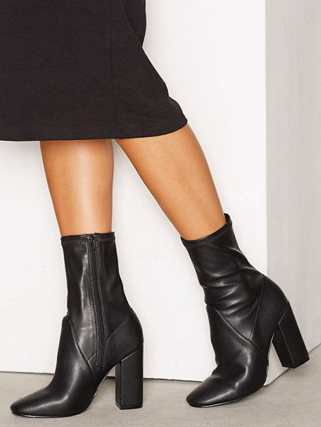 Block Heel Stretchy Boot - Nly Shoes - Musta - Boots - Kengät - Nainen - Nelly.com