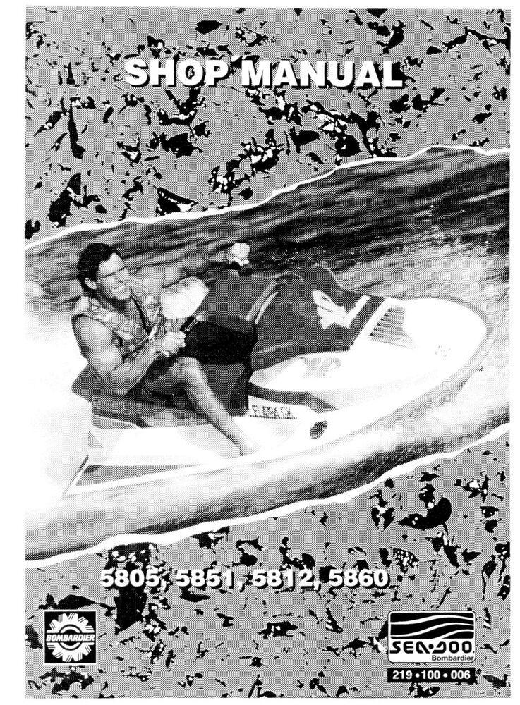 Details About Sea Doo 1992 5805 5851 5812 5860 Pwc Shop Repair Manual 219100006 Bound Book Bound Book Repair Manuals Seadoo
