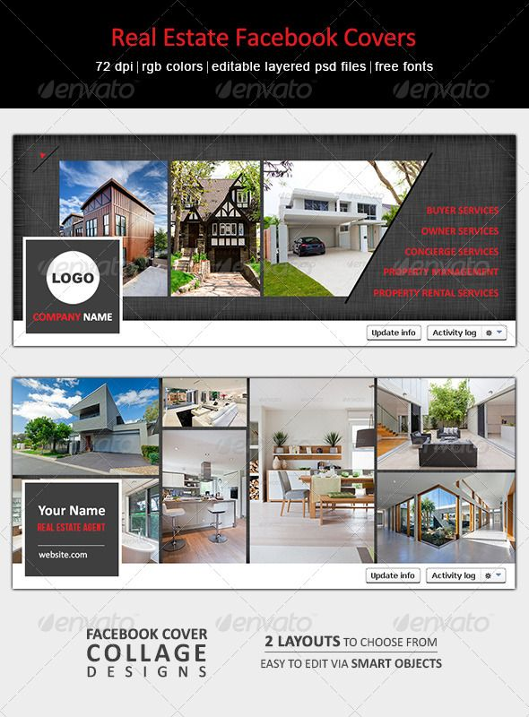 make your facebook cover stand out  ideal for real estate