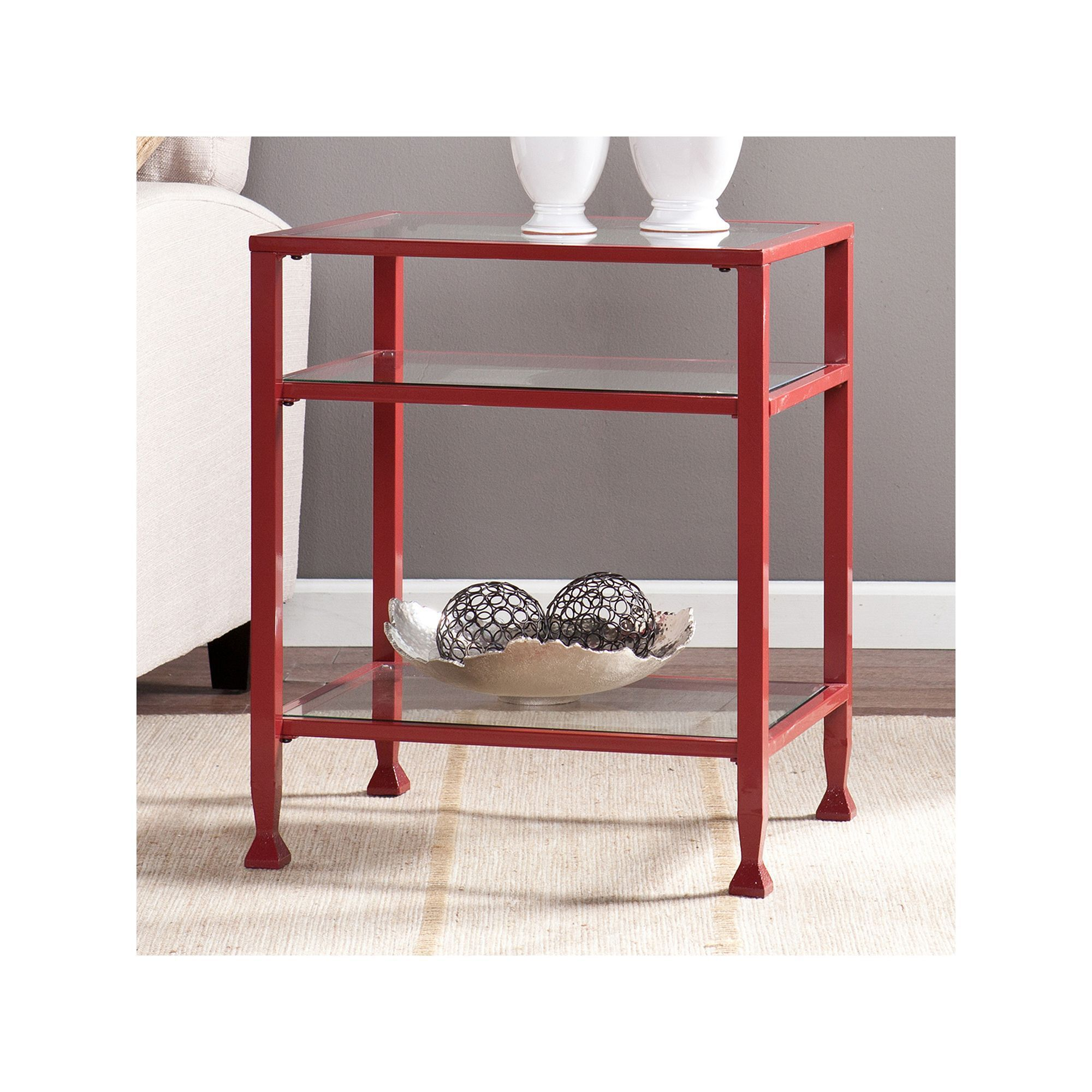 Metal Glass End Tables Sullivan End Table Red Products Pinterest End Tables Glass