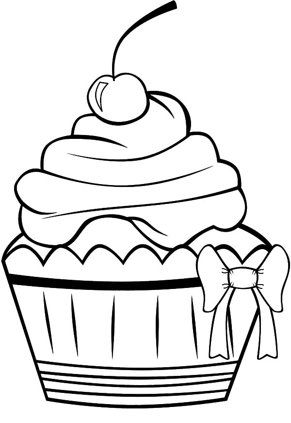 Chocolate Cup Cake With Bow Tie Coloring Pages Netart Birthday Coloring Pages Mickey Coloring Pages Minnie Mouse Coloring Pages