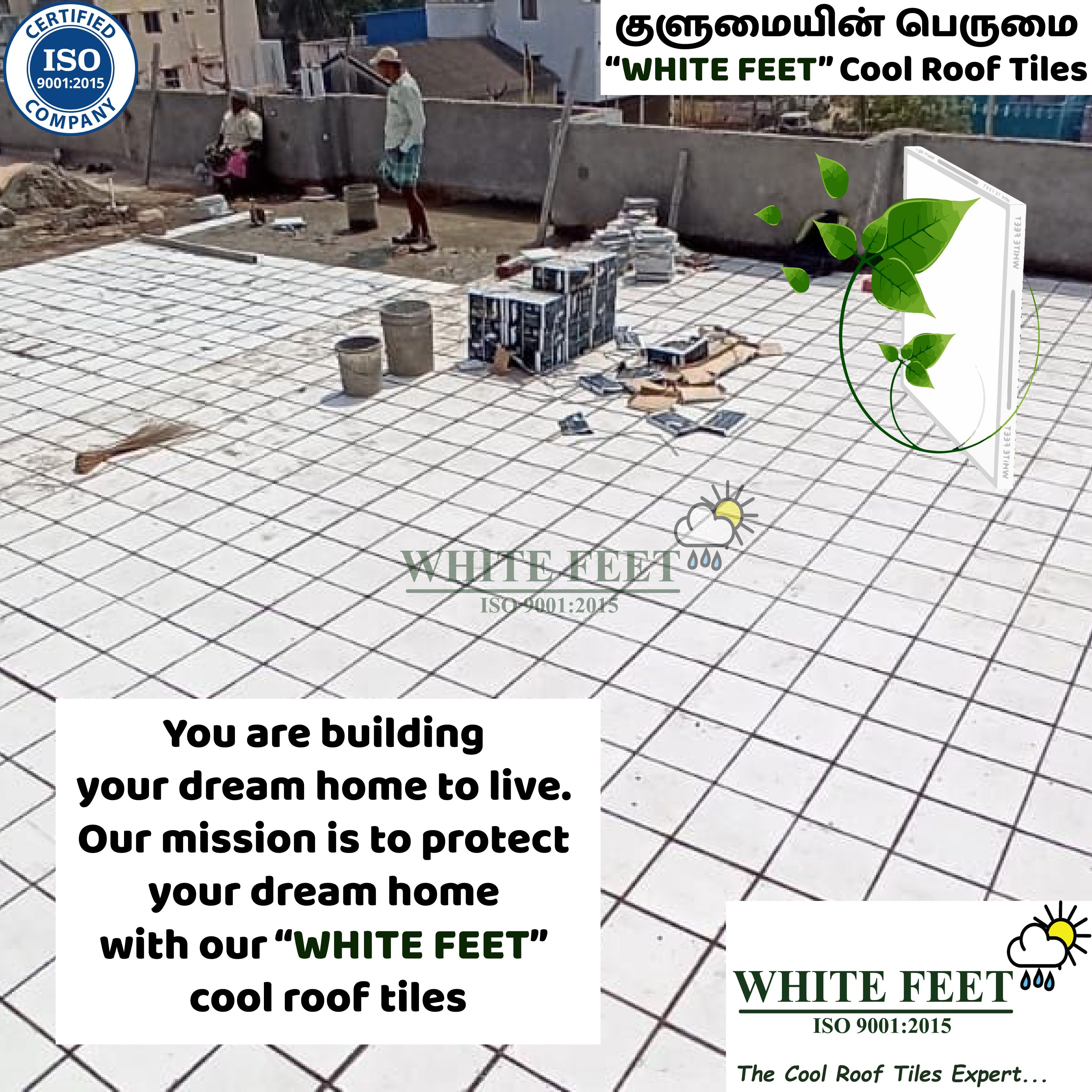 White Feet Cool Roof Tiles In 2020 Cool Roof Roof Tiles Roof Problems