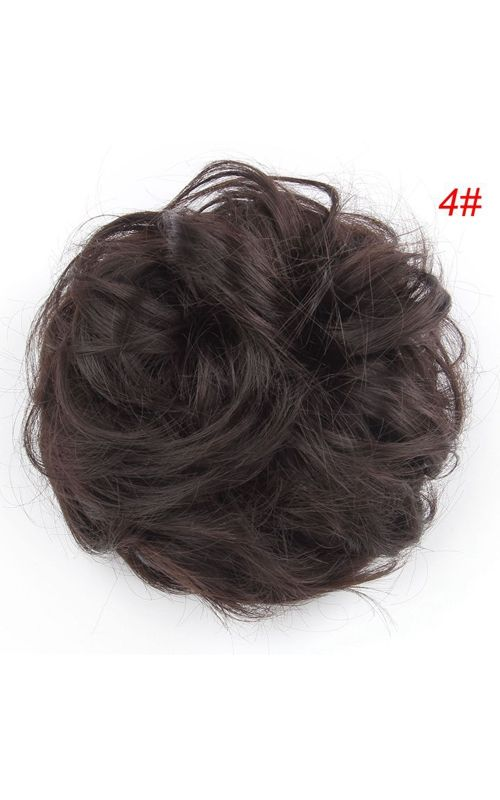84d9b24318 synthetic hairbuns chignons,curly hair beauty and chignon styling,suit for women  bun fashionable hair,whole 18 colors(this is color of 4#)