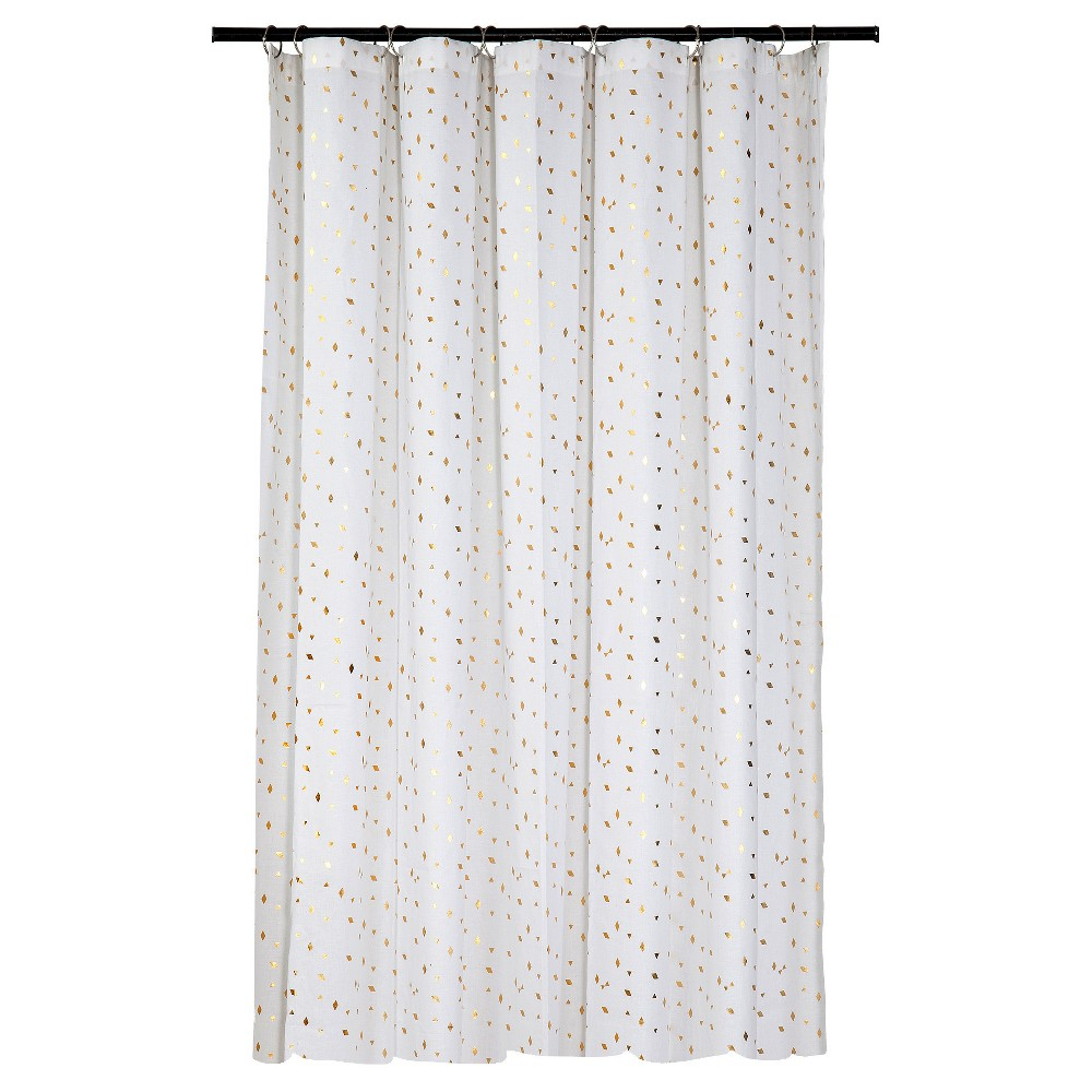 Room Essentials Diamond Shower Curtain Gold White Cool Shower
