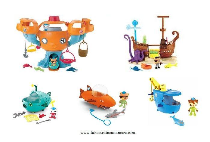 Disney Jr Octonauts Octopod, Kwazzi\'s Shipwreck, Gup A, Gup B, and ...