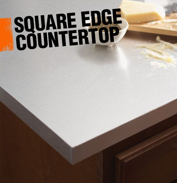A Square Edge Countertop Is The Style Of Finished Edge Seen Here