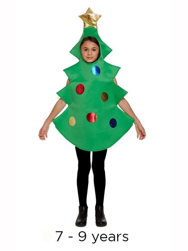 Children S Christmas Tree Novelty Fancy Dress Costume 7 9 Yrs Christmas Tree Costume Tree Costume Christmas Tree Fancy Dress