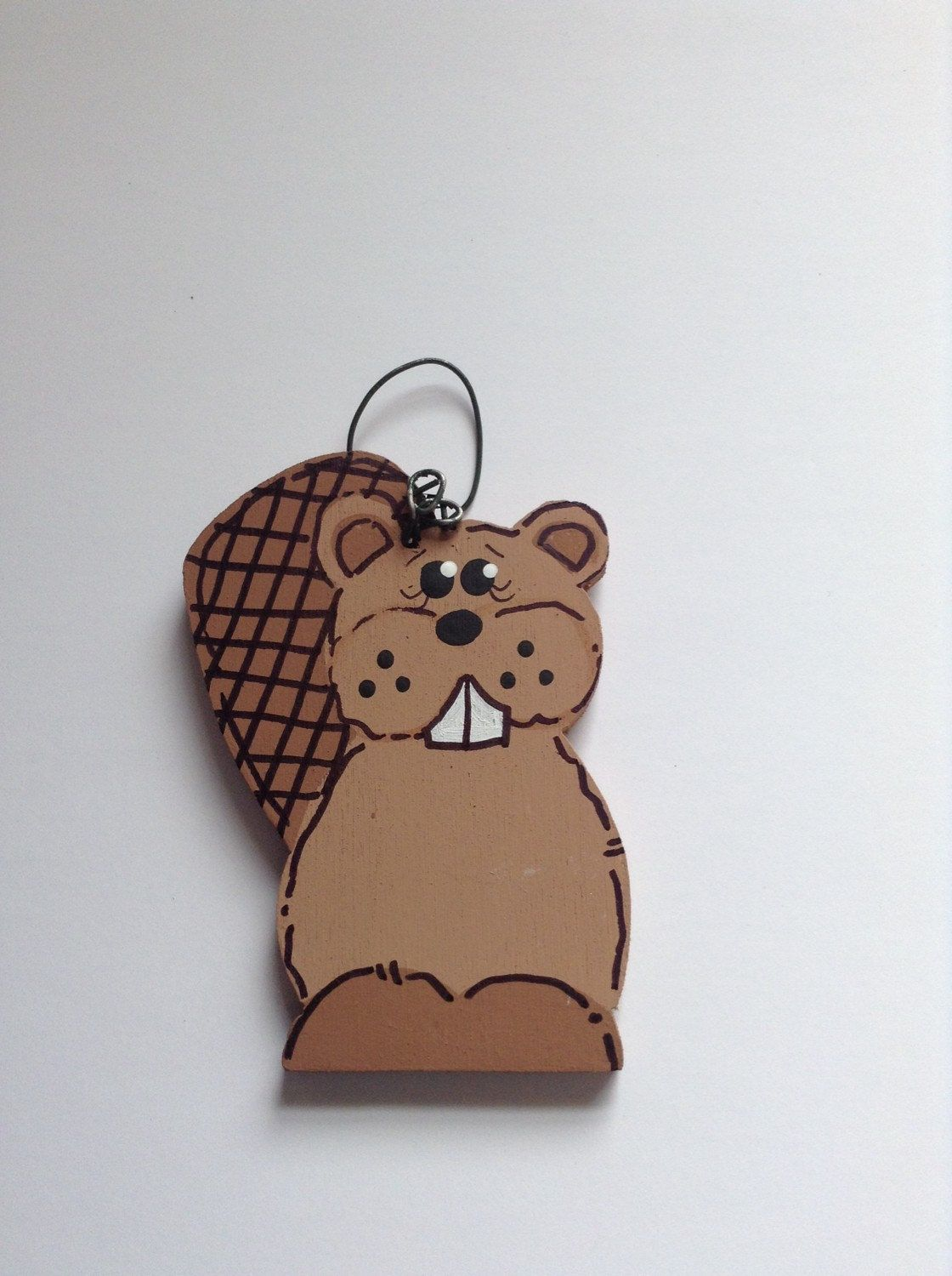 personalized beaver wooden christmas ornament baby and boy