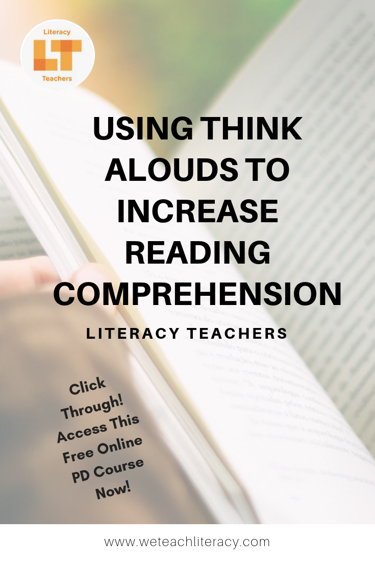 - Using Think Alouds To Increase Reading Comprehension Reading