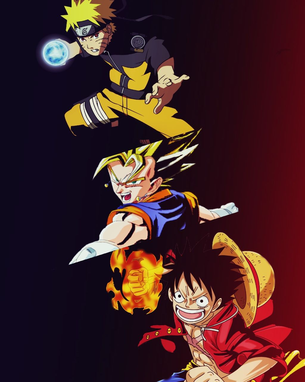 Luffy,goku, and Naruto!!! Crossover By raven | Anime | Animes manga