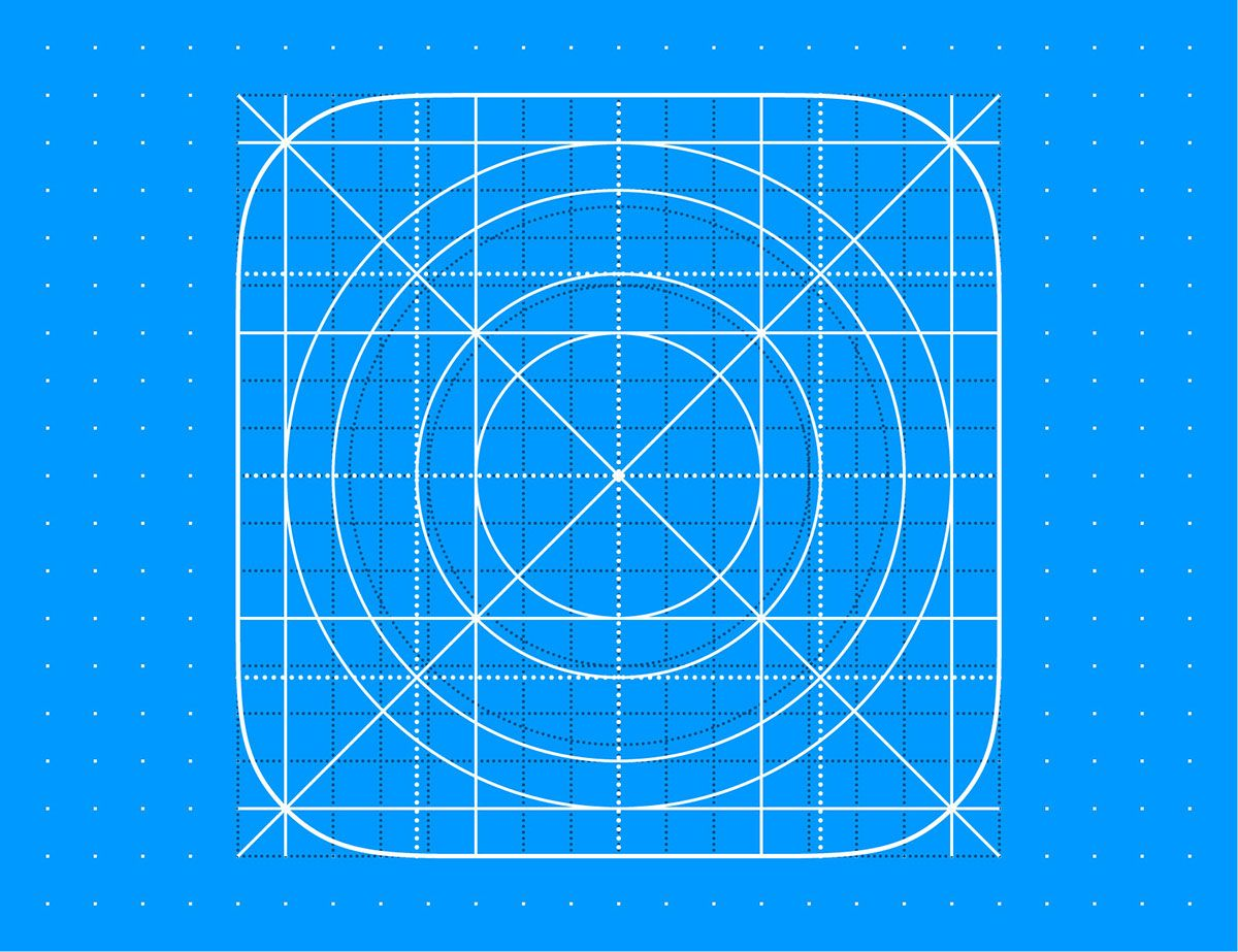 FREE Template IOS 10 Icon Grid Eps8 Vector Illustration On Behance