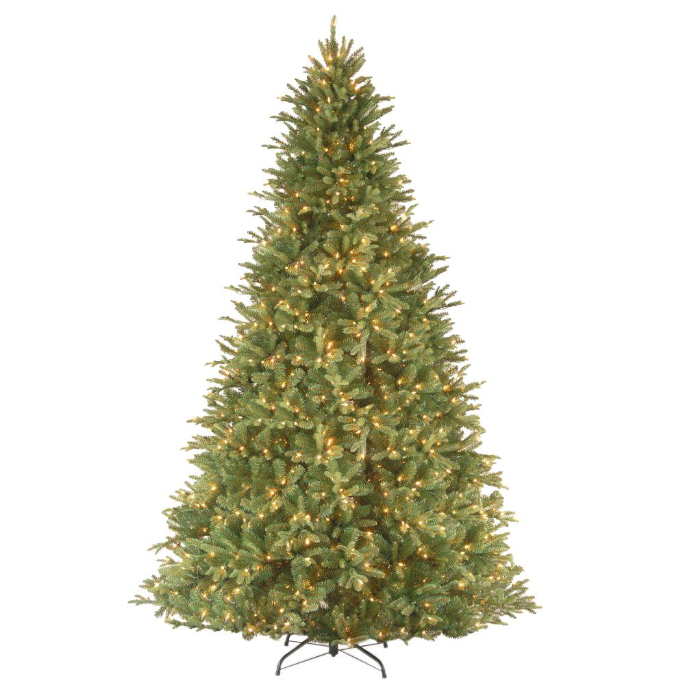 National Tree Company 9 Ft Feel Real Tiffany Fir Hinged Artificial Christmas Tree With 1050 Clear Lights Petf3 300 90 The Home Depot Pre Lit Christmas Tree Slim Artificial Christmas Trees Fir Christmas Tree