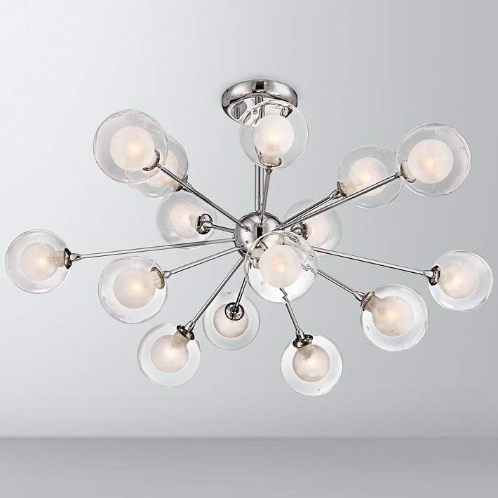 Possini euro design glass sphere 15 light ceiling light x9159 lamps plus hallway
