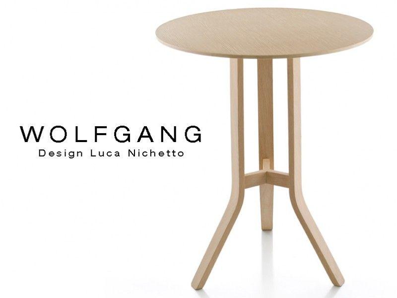 Wolfgang Table Ronde De Bar En Bois De Chene Mariage Table