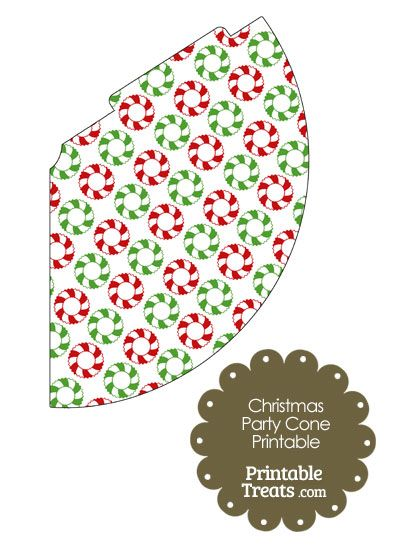 Christmas Wreath Party Cone from PrintableTreats.com