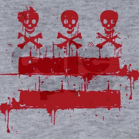 Washington DC Flag - Skulls & Stripes T-shirt on CafePress.com