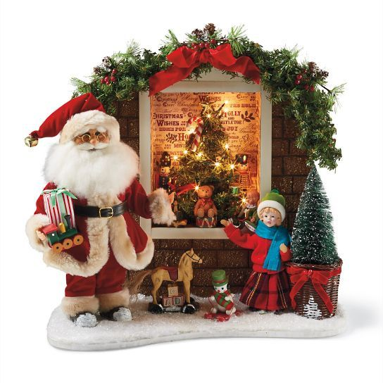 Karen Didion Lighted Toy Window Santa Christmas Pinterest Santa