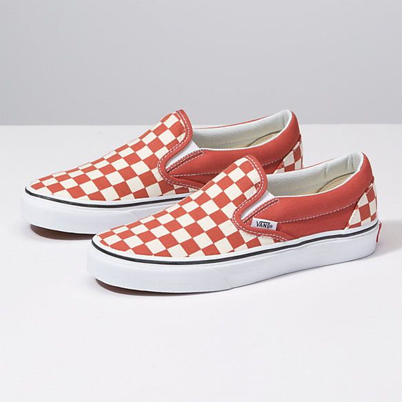 Checkerboard Classic Slip On | Shoes for school, Women shoes