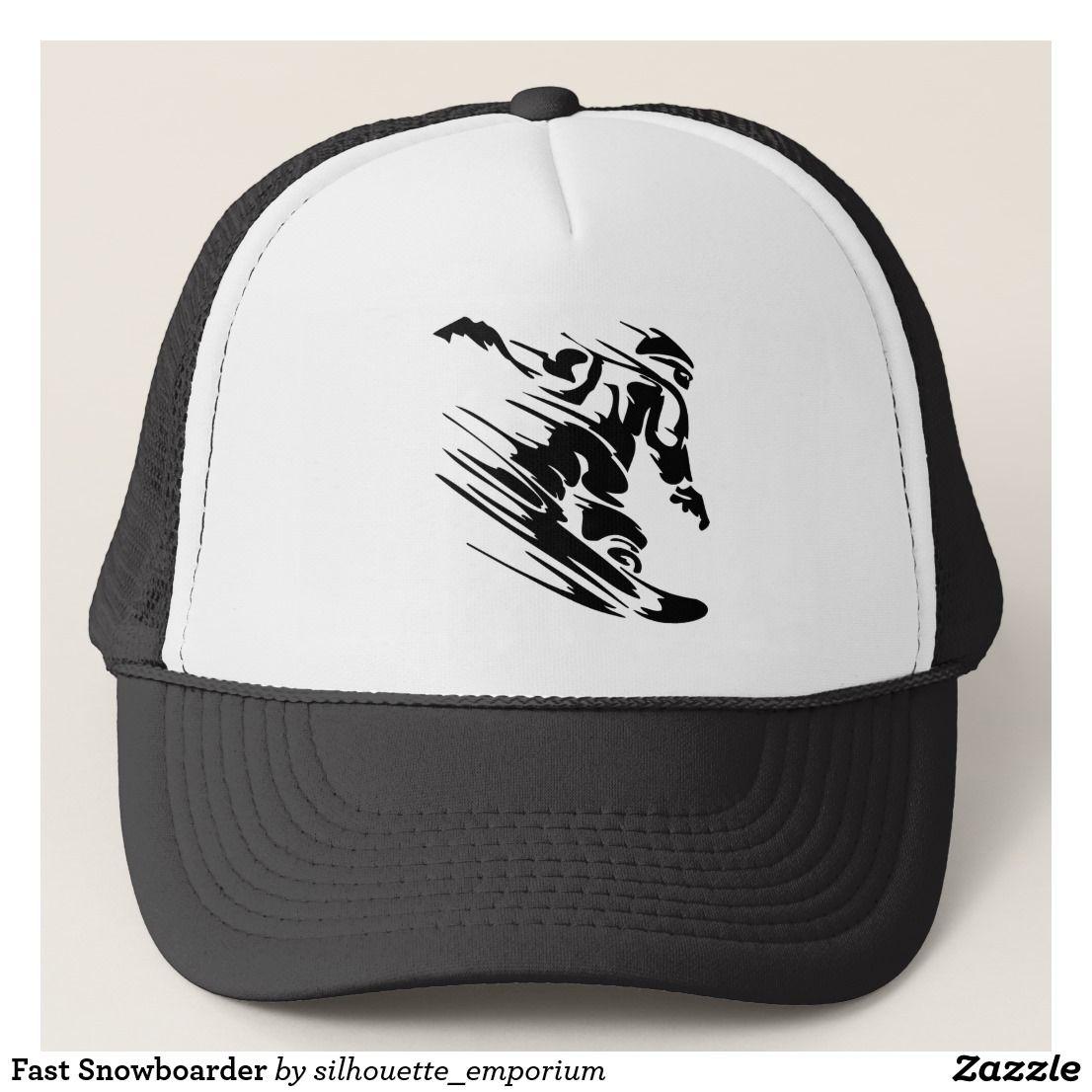 c454280b8bf Fast Snowboarder Trucker Hat Baseball Hats