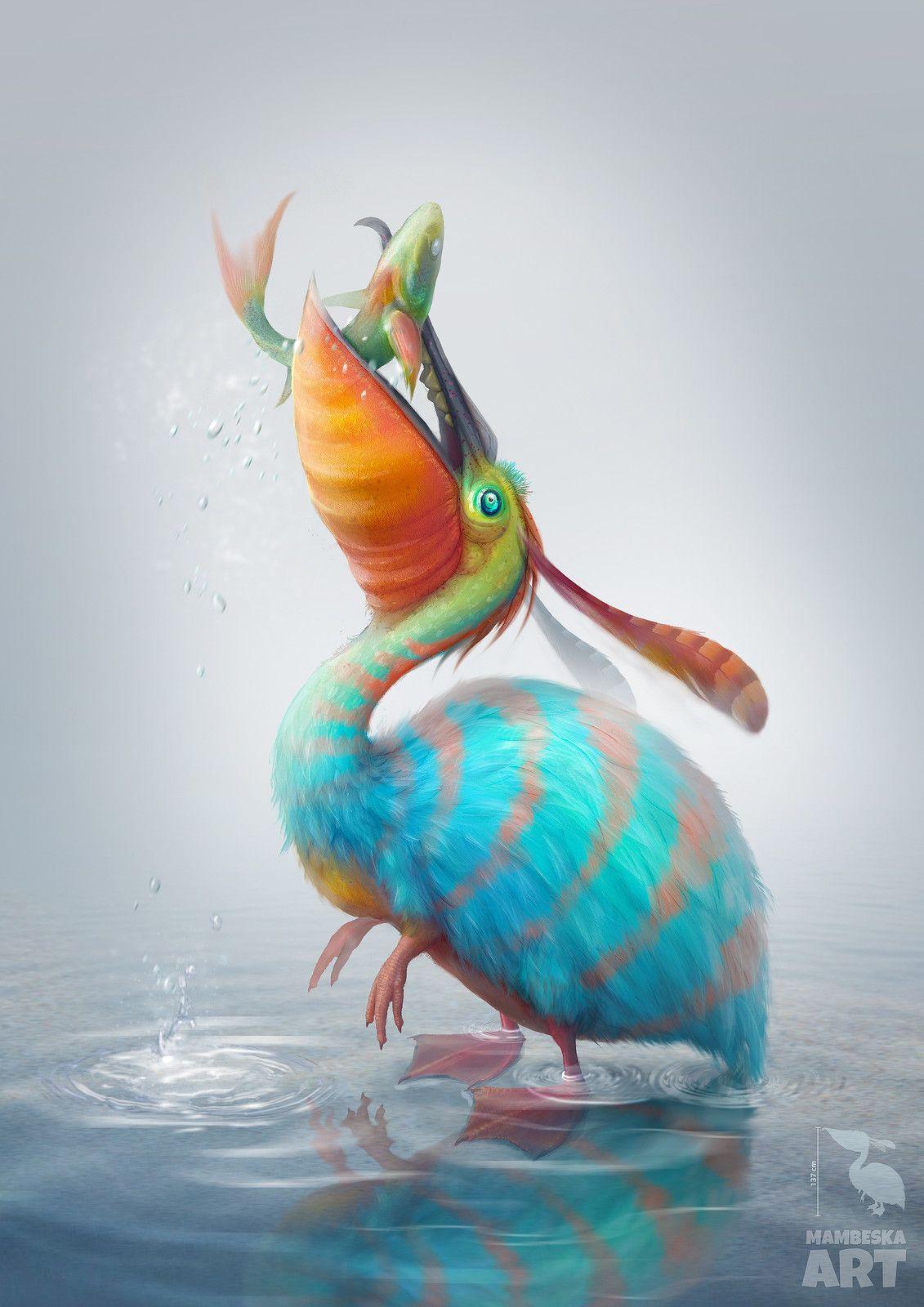 Concept predator bird, Julia Molchanova on ArtStation at