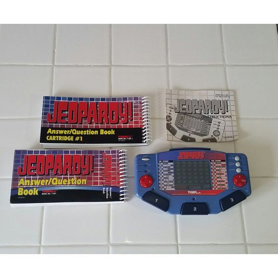 1995 Jeopardy Electronic Handheld Game Cartridge Tiger