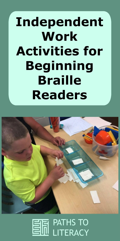 Independent Work Tasks For Beginning Braille Readers