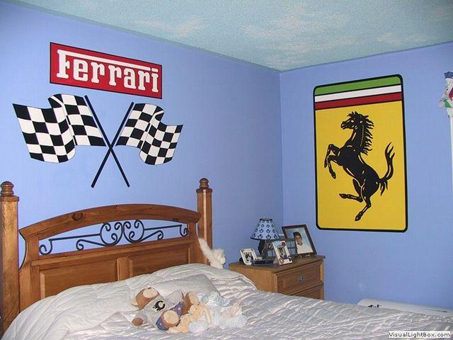 Ferrari Theme Murals Ferrari Room and Basements